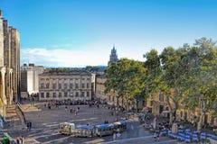 Palais de ` de papes à Avignon, France images libres de droits