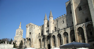 Palais de Papes Royalty Free Stock Image
