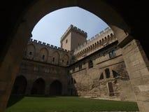 Palais de papes, Avignon, Francia Foto de archivo libre de regalías