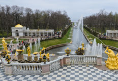 Palais de Peterhof, Russie Photos stock