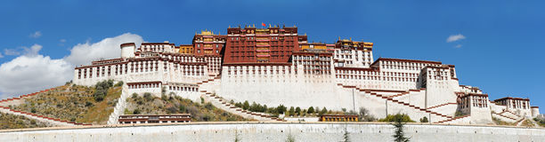Palais de Potala à Lhasa, Thibet Photo stock