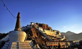 Palais de Potala au Thibet Photos stock