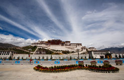 Palais de Potala. Le Thibet Photos stock