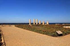 Palais de promontoire de Herods en parc national de Césarée Maritima Images stock