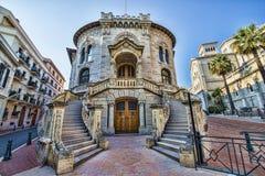 Palais De Rättvisa - domstolsbyggnad, Monaco Arkivfoto