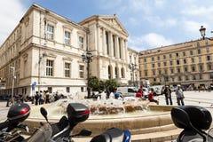 Palais de Rättvisa, Nice i Frankrike Royaltyfri Fotografi