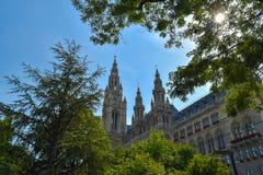 Palais de Rathaus à Vienne, Autriche Images stock