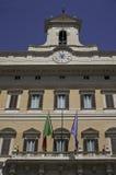Palais de Rome - de Montecitorio la façade Photographie stock libre de droits