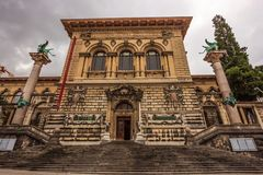 The Palais de Rumine in Lausanne. The former palace now serves as a museum, university and library. Lausanne, Switzerland, Europe royalty free stock photography