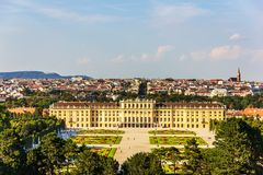Palais de Schonbrunn à Vienne, pleine vue aérienne photo libre de droits