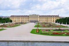Palais de Schonbrunn et stationnement, Vienne, Autriche Images stock