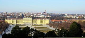 Palais de Schonbrunn et vue de ville de Vienne image stock