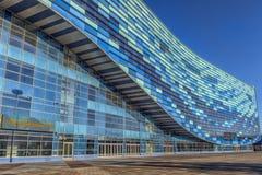 Palais de sports d'hiver d'iceberg, qui a été employé pendant la victoire 2014 Photos stock