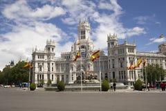 Palais de télécommunication sur la plaza Cybeles à Madrid, Espagne Photos stock