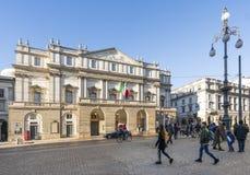Palais de théâtre de La Scala à Milan photographie stock libre de droits