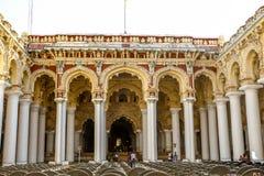 Palais de Thirumalai Nayakar à Madurai, Tamilnadu, Inde photographie stock
