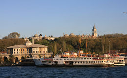 Palais de Topkapi au coucher du soleil, Istanbul Photo stock