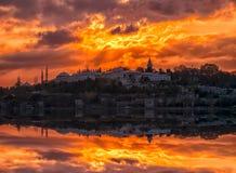 Palais de Topkapi, Hagia Sophia, mosquée bleue et le secteur photo libre de droits