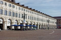 Palais de Turin de place de San Carlo Photographie stock