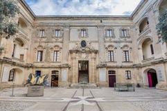 Palais de Vilhena dans Mdina, Malte Image libre de droits