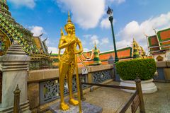Palais de Wat Phra Kaew Temple Grand d'Emerald Buddha dans Bangk Photographie stock libre de droits