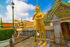 Palais de Wat Phra Kaew Temple Grand d'Emerald Buddha dans Bangk Images libres de droits