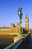 Palais de Westminster de passerelle Images stock