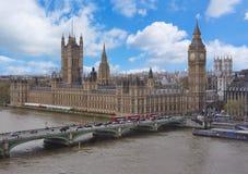 Palais de Westminster et Big Ben, Londres, R-U photographie stock
