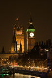 Palais de Westminster la nuit Photo libre de droits