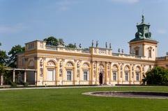 Palais de Wilanow à Varsovie, Pologne photographie stock