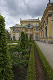 Palais de Wilanow avec le jardin Photos libres de droits