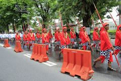 Palais de Yogyakarta de soldats Photo stock