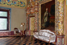 Palais de Yusupov à Moscou. La salle de trône. Images libres de droits