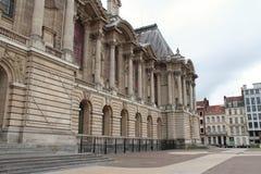 Palais des花花公子艺术的门面-里尔-法国 免版税库存照片