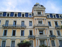 Palais des Anglais på den gata8 Maj 1945 Beaulieu-sur-Mer Arkivbilder