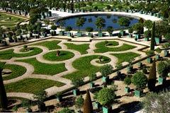 Palais des arbres oranges d'Orangerie de jardins de Versailles Photos stock