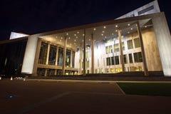 Palais des arts la nuit à Budapest Image libre de droits
