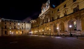 Palais des arts of Louvre, Paris at night Royalty Free Stock Photo