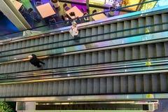 The Palais des congrès escalators Stock Image