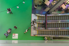 The Palais des congrès escalators Royalty Free Stock Photography