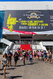 Palais des-festivaler och des Congres i Cannes royaltyfri bild