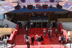 Palais des Festivals. Red carpet Royalty Free Stock Photography