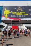 Palais des festiwale Congres w Cannes et des obraz royalty free