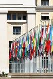 Palais des-nationer, Geneva, Schweitz arkivfoton