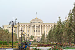 Palais des Nations i morgonen, Dushanbe, Tadzjikistan Arkivbild