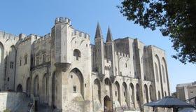Palais des Papes,阿维尼翁,法国 库存图片