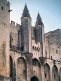 Palais des Papes,阿维尼翁,法国 免版税库存图片
