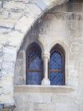 Palais des Papes λεπτομέρεια αρχιτεκτονικής, Αβινιόν Γαλλία Στοκ εικόνα με δικαίωμα ελεύθερης χρήσης