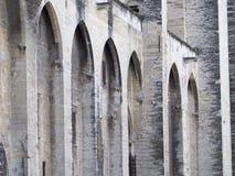 Palais des Papes λεπτομέρεια αρχιτεκτονικής, Αβινιόν Γαλλία Στοκ Εικόνες