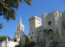 Palais des Papes #2. Palace of popes in avignon, france Stock Photography